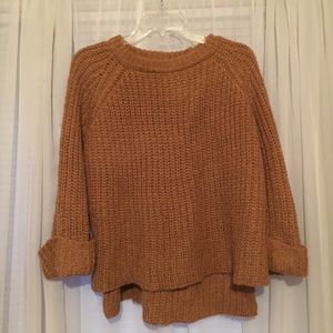 Hand knit chunky sweater size M
